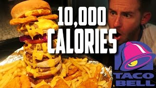 THE TACO BELL NAKED CHICKEN CHIP BURGER | 10,000+ CALORIES