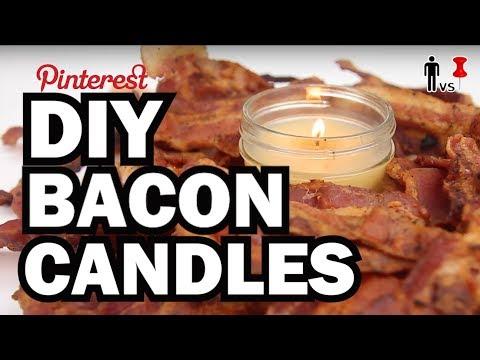 DIY Bacon Candles - Man Vs Pin - Pinterest Test #60