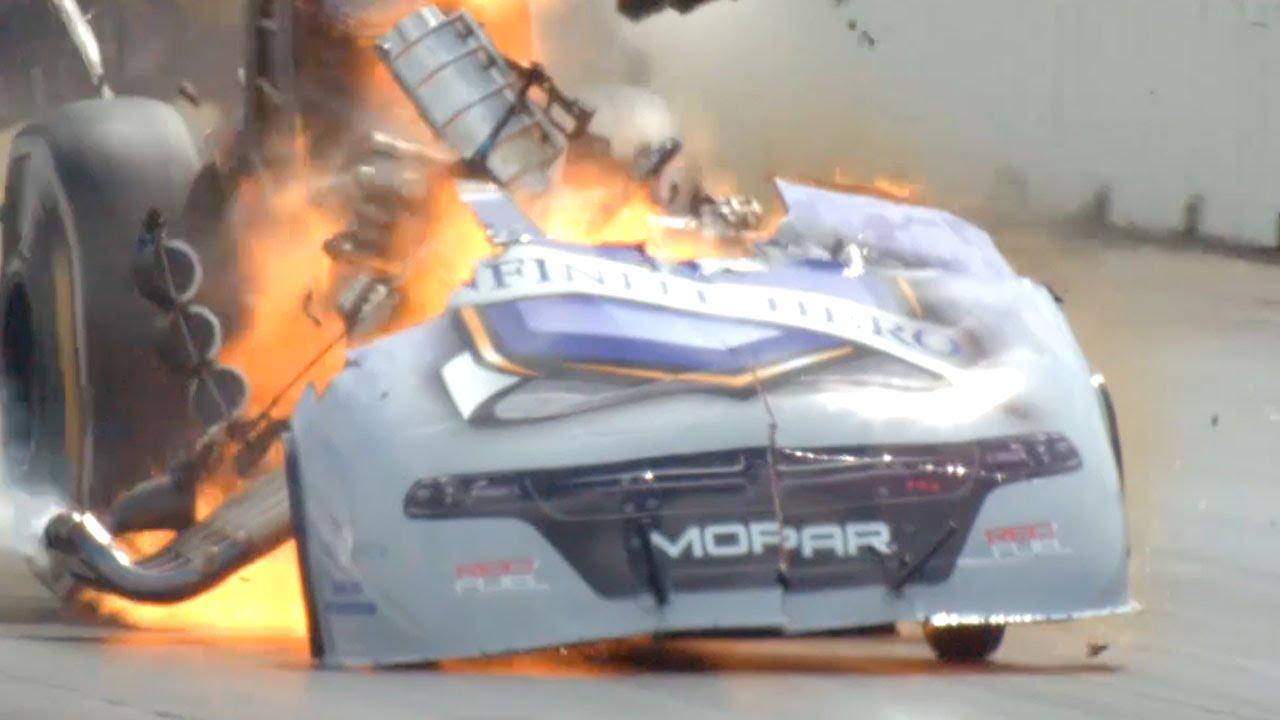 Nhra Funny Car Driver Jack Beckman Walks Away From Huge Engine Explosion