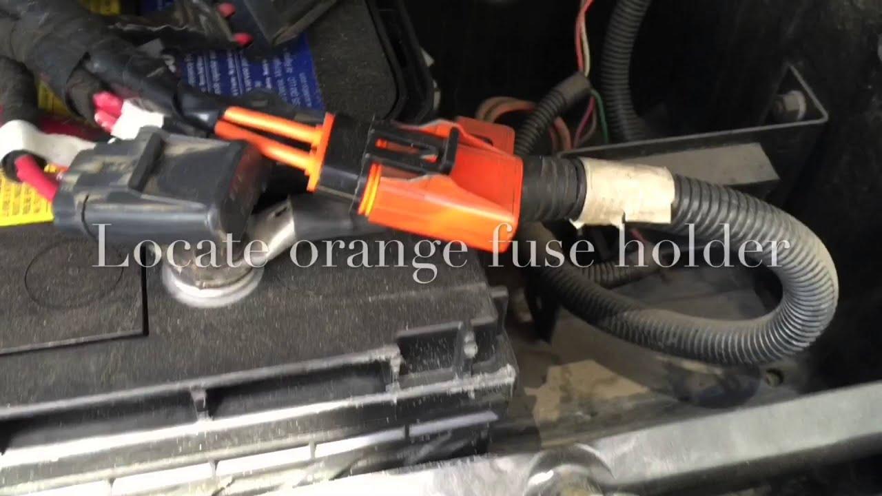 24ft Battery Fuse International 7300  YouTube
