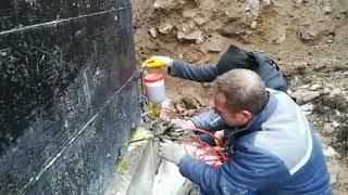 Насос для инъекций смолами ППУ - ремонт трещин, заполнение пустот в бетонном фундаменте