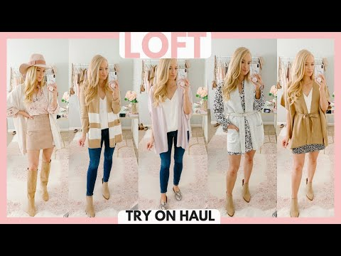 12 CUTE FALL OUTFITS 2019 🎀HUGE LOFT CLOTHING TRY ON HAUL | Amanda John