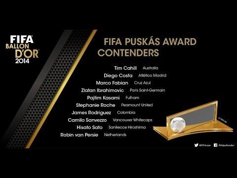 FIFA Puskás Award 2014 - Nominees Goals Featuring Zlatan, Diego Costa, James Rodriguez & RVP