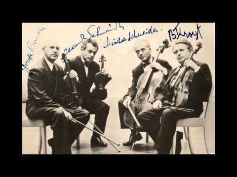 Mozart - String quartet K.590 - Budapest SQ 1955