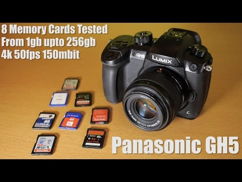 Panasonic GH5 SD card shootout. Which card for 150mbit recording?