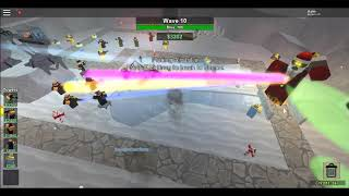 Roblox Tower Battles. SantaBot Battle. (Christmas Event)