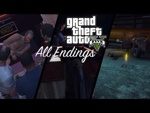 GTA 5 All Endings A B C Grand Theft Auto 5 Endings