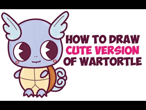 How To Draw Wartortle From Pokemon Easy Step By Step Cute Chibi