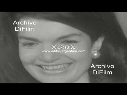 Jacqueline Kennedy visita la Republica Argentina y al Dr. Arturo Illia 1966