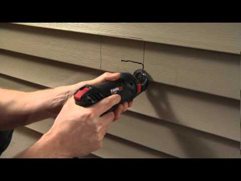 Cutting Vinyl Siding With The Rotozip Rotosaw Youtube