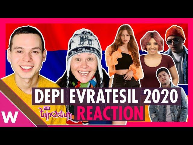 Armenia Depi Evratesil 2020 (REACTION) | All 12 songs for Eurovision