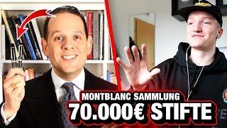 Er hat eine 70.000€ Stifte Sammlung.. 😂
