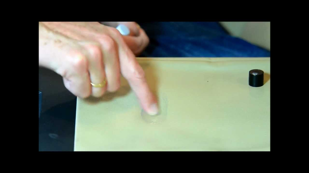 How To Get Rid Of Ink Marks On Leather Sofa Sure Fit Matelasse Damask Slipcover Remove A Fast Smart Repair By Hbc System Youtube