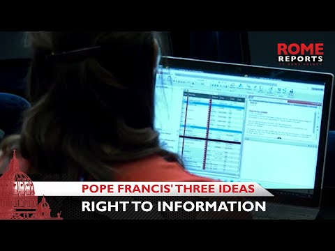 Pope Francis' three ideas on right to information
