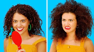 FUNNY CURLY HAIR PROBLEMS || Girls With Curly Hair Struggles by 123 GO!