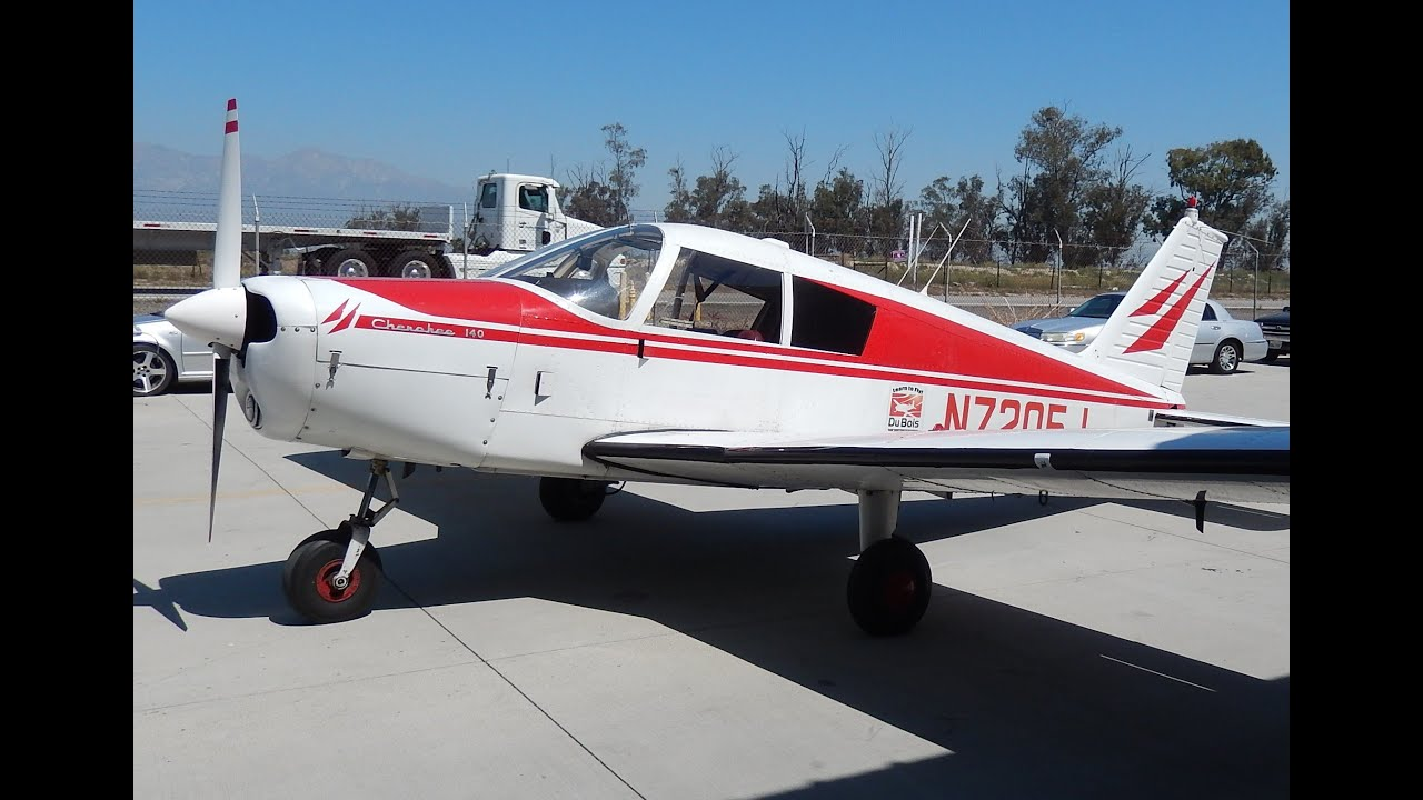 GoPro Flight in 1968 Piper Cherokee 140 Chino Airport to Ontario Airport