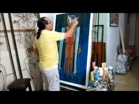 Alvaro Almaguer, Cuban Painter, Havana Cuba