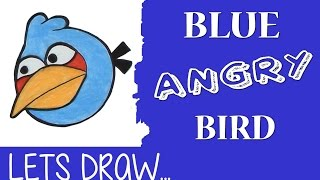 How to Draw the Blue Angry Bird in pencil - Artist Rage