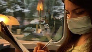 Voyage en train et mots mélés 🌼