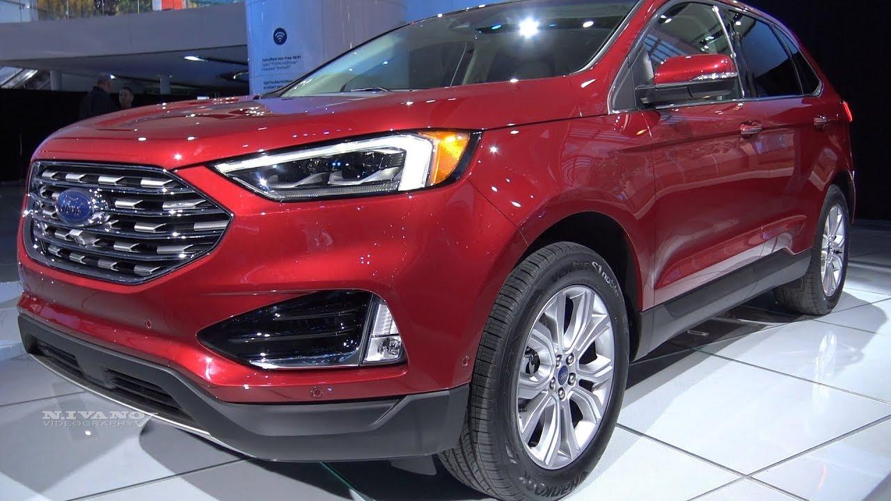 Ford Edge Titanium Exterior And Interior Walkaround  Detroit Auto Show
