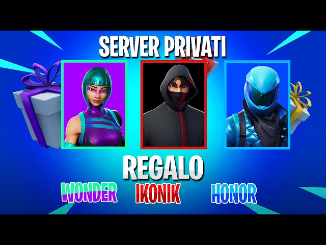 SERVER PRIVATI FORTNITE - REGALO SKIN Wonder, Honor e Ikonik! Live Fortnite ITA - Code: CREWDEINERD
