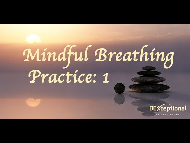 Mindful Breathing Practice 1: Be More Focused & Aware, Less Stressed & Re-Train Your Brain
