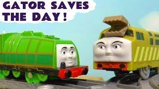 Thomas & Friends Trackmaster Gator Saves The Day with Diesel 10 and the funny Funlings