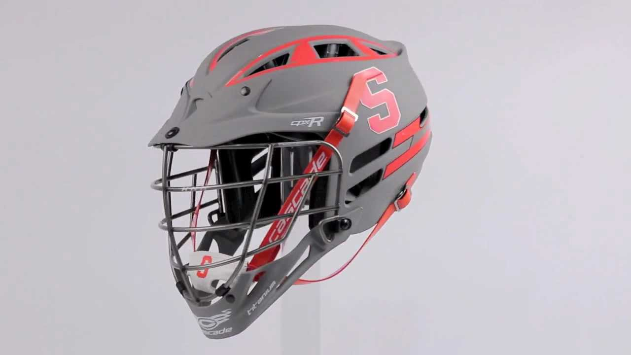 2013 Syracuse Matte Grey CPX-R w/ Titanium Facemask - YouTube