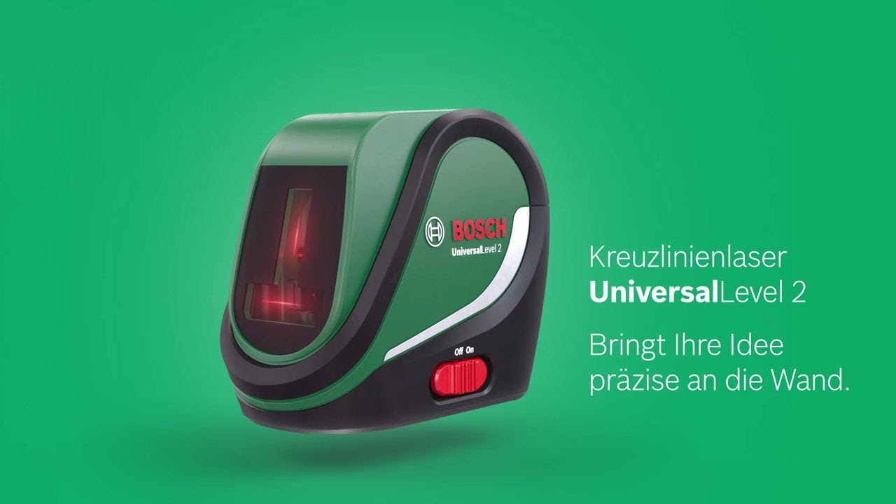 bosch stellt vor: der kreuzlinienlaser universallevel 2 - youtube