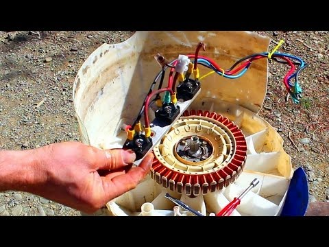 Free power- How to convert an old washing machine into a wat