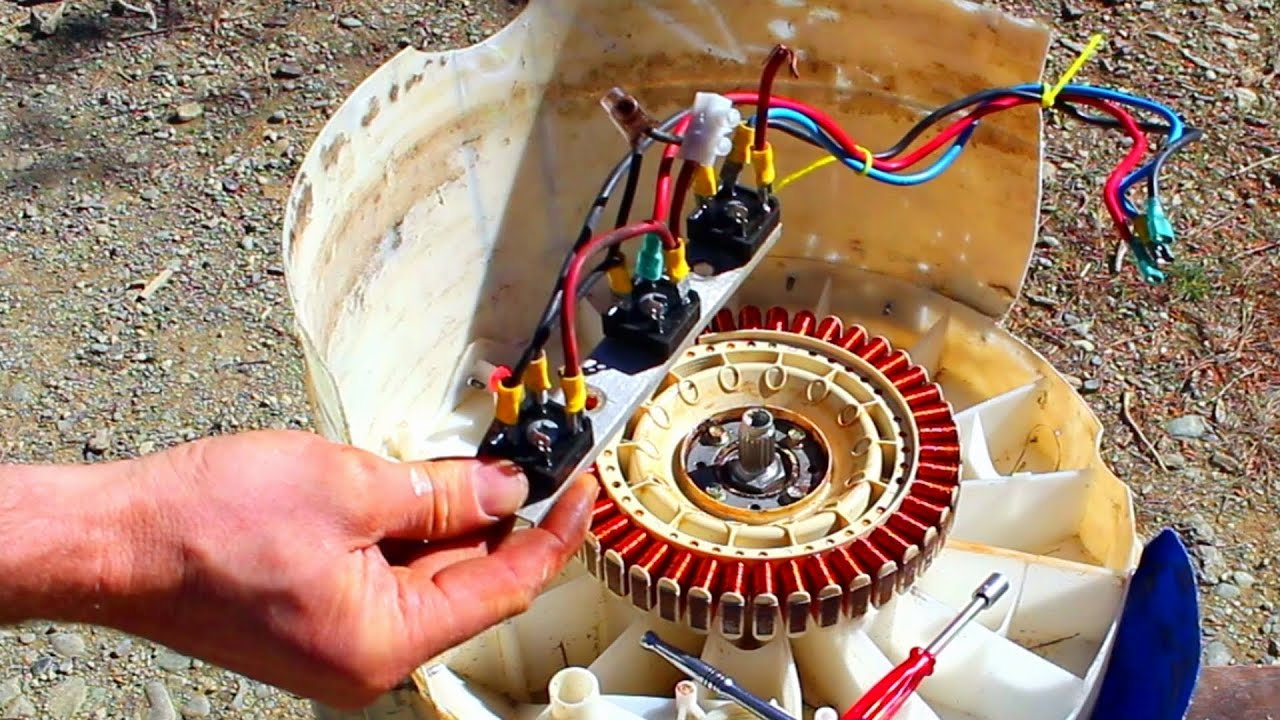Free Power How To Convert An Old Washing Machine Into A Water Energy Generator On Self Powered Schematic Diagram