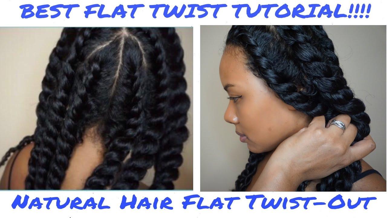 flat-twist natural hair