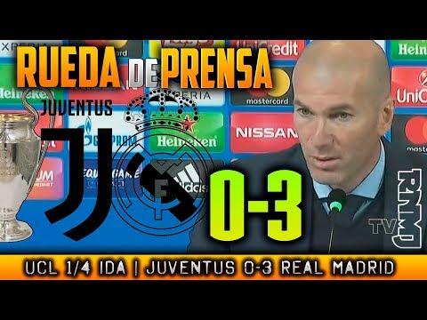 Juventus 0-3 Real Madrid Rueda de prensa de ZIDANE post Champions (03/04/2018)