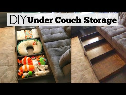 How To Make Diy Storage Under Couch Or Bed Organizer Youtube