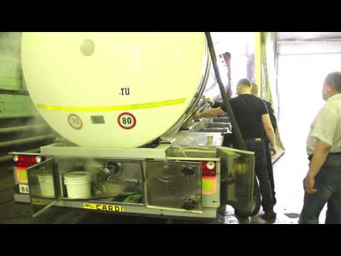 Пропаривание автоцистерн. Открытие июль 2014.