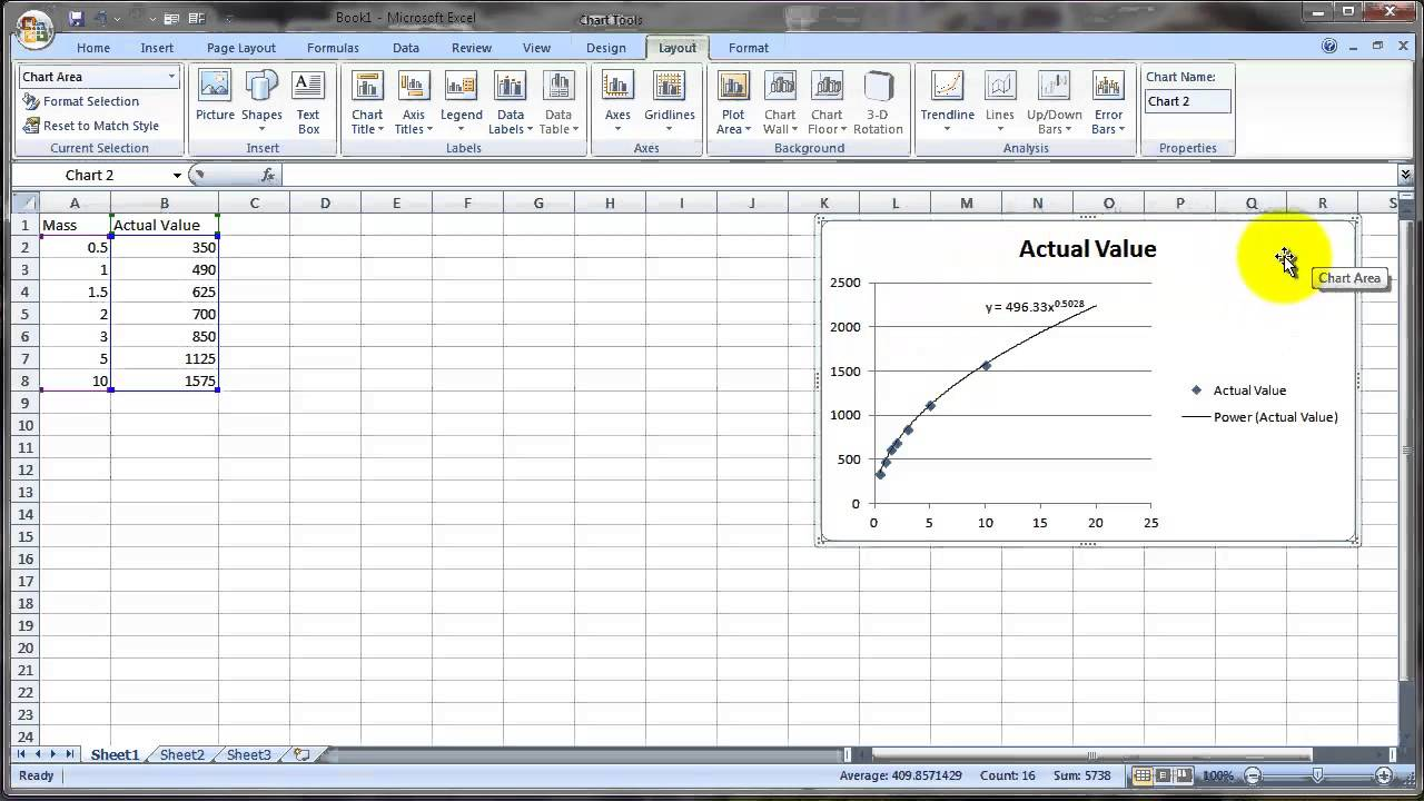 Curve Fitting with Microsoft Excel