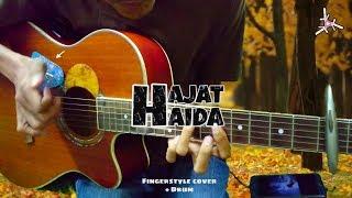 HAJAT - Haida   Fingerstyle cover + drum   Lirik   Easy Chord   Faiz Fezz