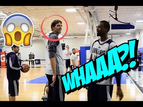 Dirk Nowitzki Shooting Contest With Harrison Barnes :: PUTS HIM TO SLEEP!