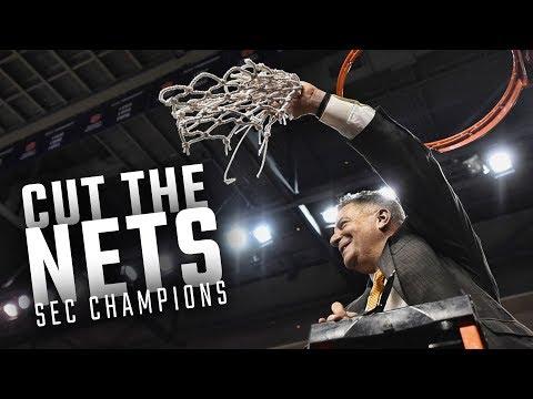 Watch the Auburn Basketball team cut down the nets as 2018 SEC Champions
