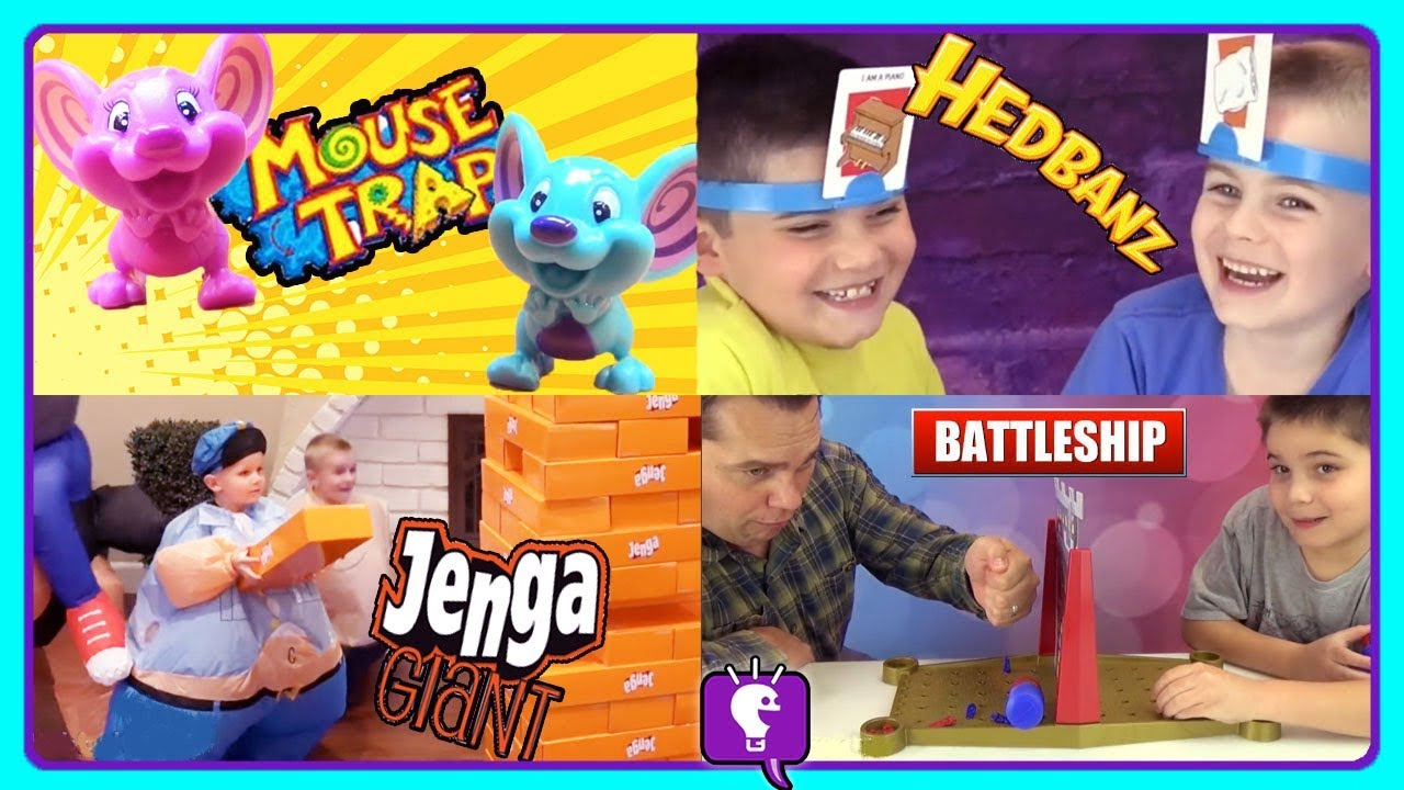 GIANT JENGA + GAMES Compilation with HobbyKidsTV