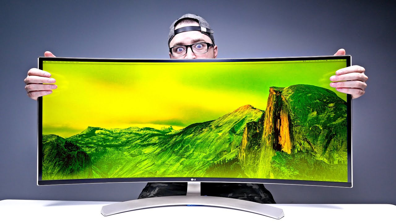 massive 38 inch monitor mind blown youtube. Black Bedroom Furniture Sets. Home Design Ideas