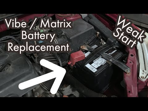 How to Replace the Battery for a Pontiac Vibe or Toyota Matrix – Weak or No Start Fix