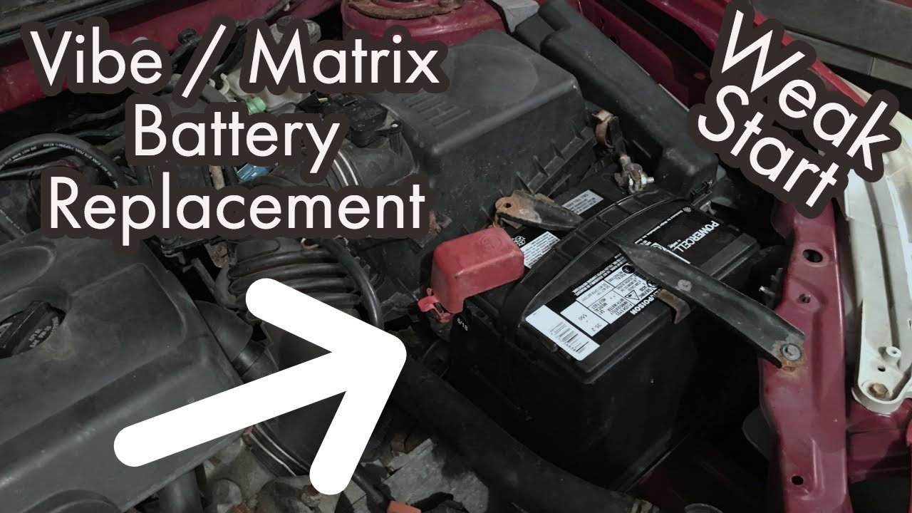 How To Replace The Battery For A Pontiac Vibe Or Toyota Matrix Weak No Start Fix