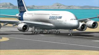 Microsoft Flight Simulator X: Airbus A380 test run with FMGC demo