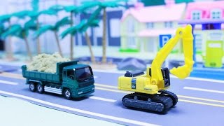 รีวิวของเล่นรถก่อสร้าง โรโบคาร์ โพลี robocar poli รถจิ๋ว รถโมเดลเหล็ก รถแม็คโคร รถตักดิน รถดั้ม