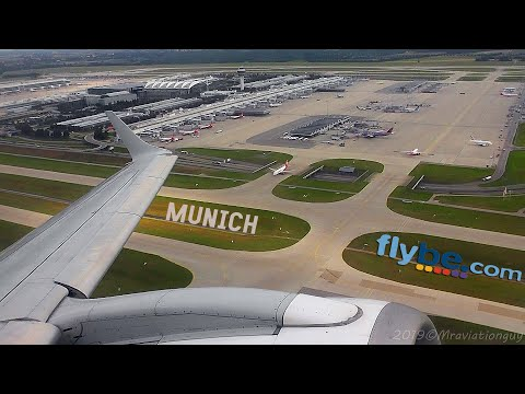 Flybe Embraer ERJ-195 Pushback, Taxi, Takeoff (Munich Airport)    Storm Dodging & Step Climbs!