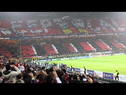 AC Milan vs Barcelona - San Siro, Milano - Uefa Champions League Introduction