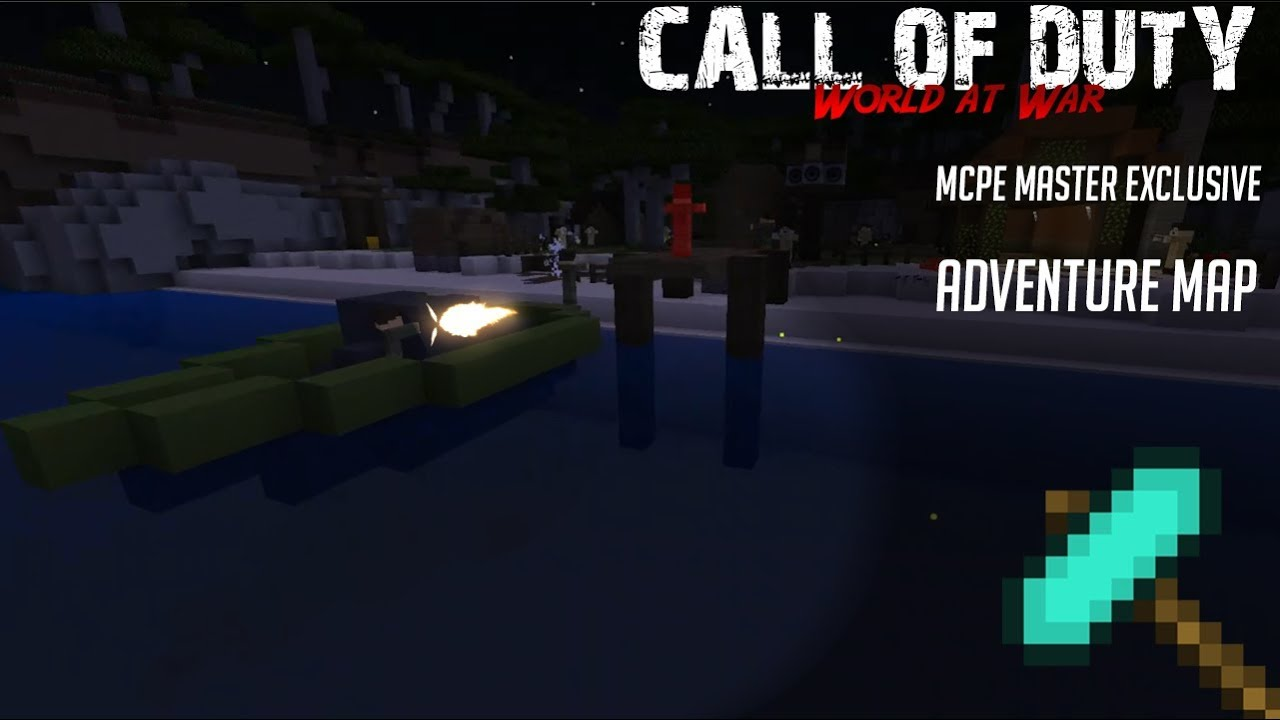 Call of Duty World at War (Minecraft PE Adventure Map) [Exclusive]