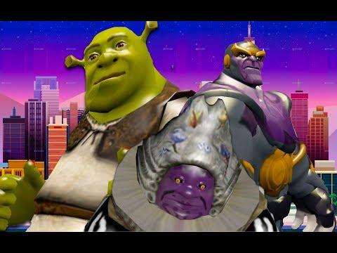 Shrek VS Thanos:DESPACITO battle