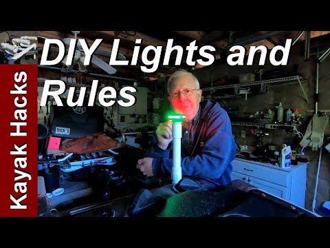 Kayak Lights For Night Fishing - Rules and DIY Kayak Light Pole / Sidelights